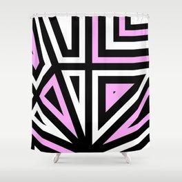 Around Every Corner Pink Shower Curtain