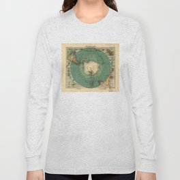 Map of Antarctica from 1912 (Süd-Polar-Karte) Long Sleeve T-shirt