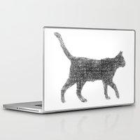 kitten Laptop & iPad Skins featuring Dust kitten by David Zydd