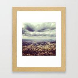 Heavy clouds Framed Art Print