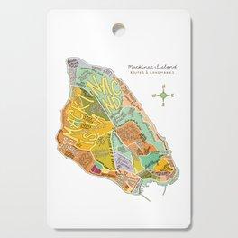 Mackinac Island Illustrated Map Cutting Board