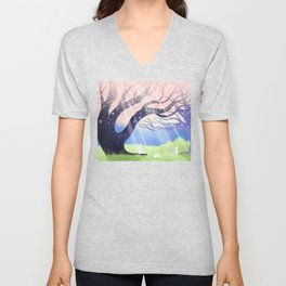 Soft Light On Soft Hares In Aloquil's Glades Unisex V-Neck