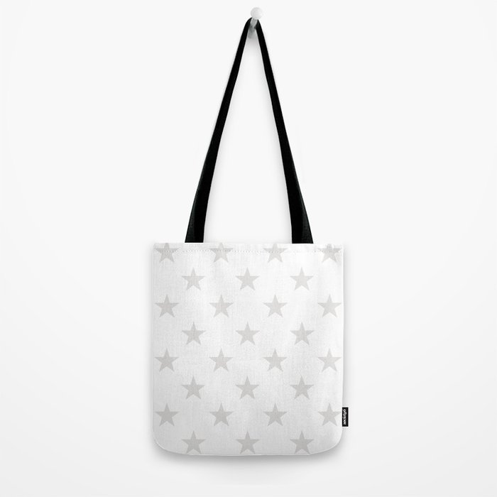 Stars (Platinum/White) Tote Bag