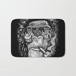 Monkey glasses Bath Mat