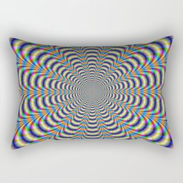Rosette in Yellow and Blue Rectangular Pillow