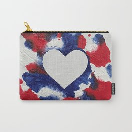 Willa Patriotic Heart Carry-All Pouch