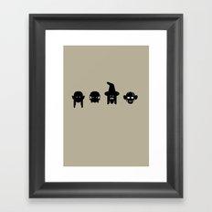 legolas, frodo, gandalf & gollum Framed Art Print