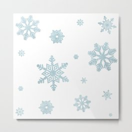 Glitter Snowflakes Metal Print