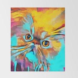 Persian Cat Throw Blanket