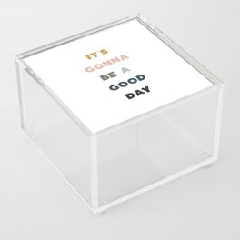 Good Day - Retro Rainbow Acrylic Box