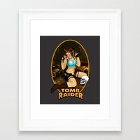 tomb raider Framed Art Prints featuring Tomb Raider by Orphen5