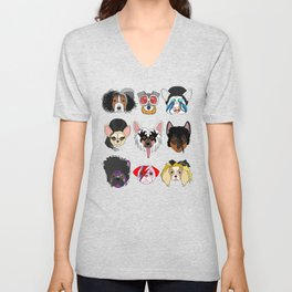 Pop Dogs Unisex V-Neck