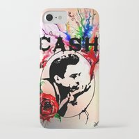 johnny cash iPhone & iPod Cases featuring Johnny Cash by suzannelola_art