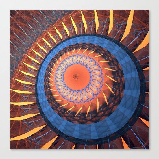 Modern textured geometric abstract Canvas Print