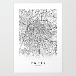 PARIS CITY MAP Art Print