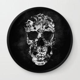 Vintage Skull BW Wall Clock