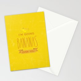 Going bananas over you Stationery Cards