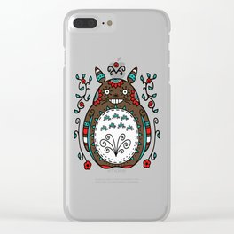 Toto Flowers Clear iPhone Case