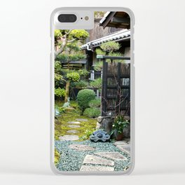 Japanese Garden Clear iPhone Case