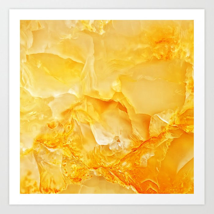 Yellow Onyx Marble Art Print