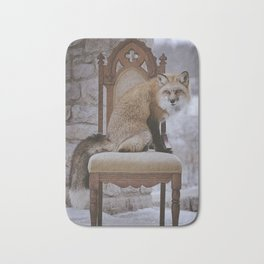 Fox on a Throne Bath Mat