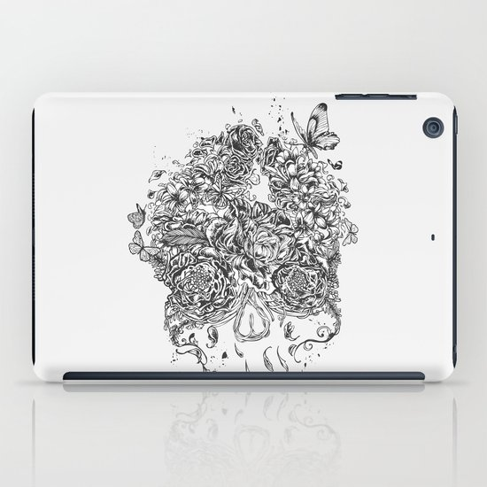 Skull Flower iPad Case