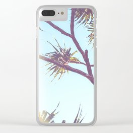 Retro Tropical Palm Tree Clear iPhone Case