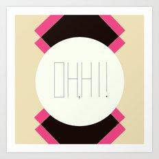oh hi! Art Print