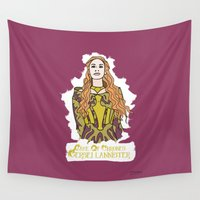 lannister Wall Tapestries featuring Cersei by JessicaJaneIllustration