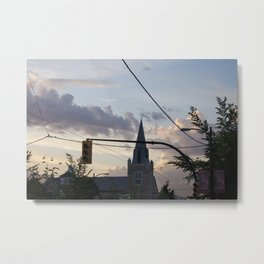 Sunset over Main Street Vancouver Metal Print