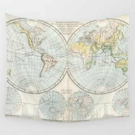 Old Map of The Globe Wall Tapestry