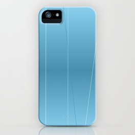 Modern Blue Line Art iPhone Case