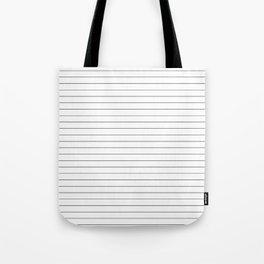 White Black Lines Minimalist Tote Bag