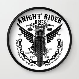 Biker Rider - Ride OR Die - Biker saying quote Wall Clock