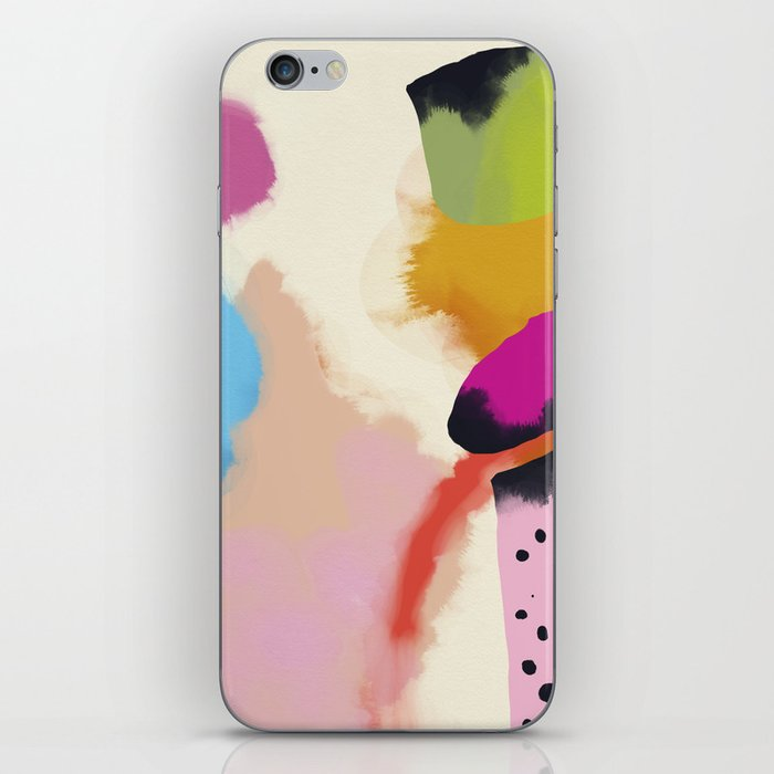 la vie en rose  art abstract minimal iPhone Skin