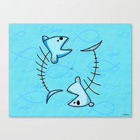 pisces Canvas Prints featuring Pisces by Giuseppe Lentini