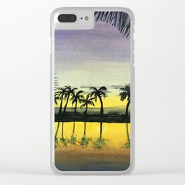 Sunset in Kona Clear iPhone Case