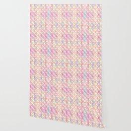 Pastel Iridescent Mermaid Scales Pattern Wallpaper