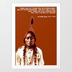 Sitting Bull Native Indian Art Print