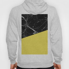 Black Marble and Meadowlark Yellow Color Hoody