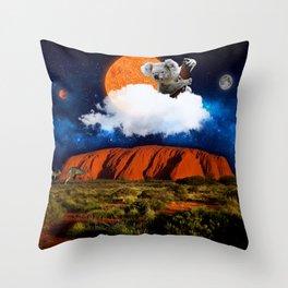 Thinking of Australia Throw Pillow