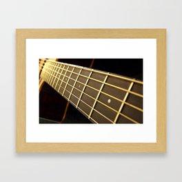 Golden Days #guitar #musician Framed Art Print