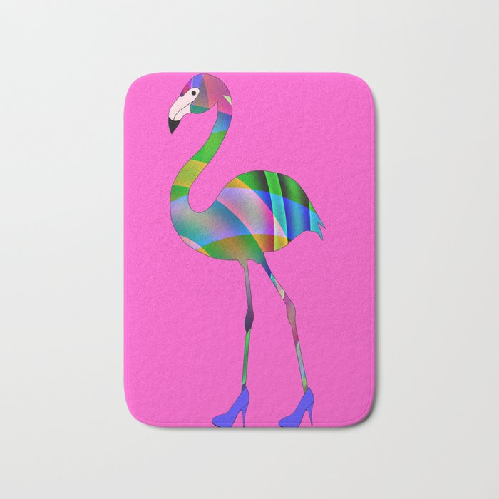 Chic Flamingo Bath Mat