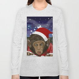 Christmas monkey Long Sleeve T-shirt