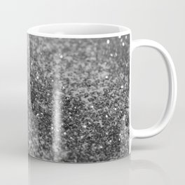 Silver Gray Black Glitter #2 (Faux Glitter - Photography) #shiny #decor #art #society6 Coffee Mug
