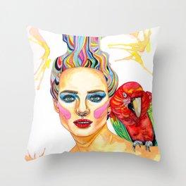 Carmen - A Tropical Mind Throw Pillow