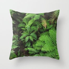 New Zealand ferns Throw Pillow
