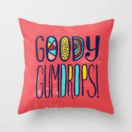 Goody Gumdrops! Throw Pillow