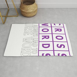 Crosswords Lead to Curse Words Puzzler Gift Rug