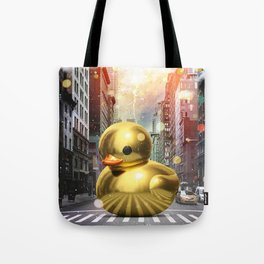 The Golden Rubber Duck Tote Bag